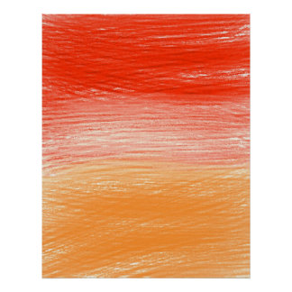 Red Orange Halves Abstract Poster