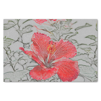 Red-Orange Hibiscus tissue paper