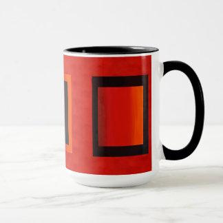Red Orange LED Wash Lighting Mug