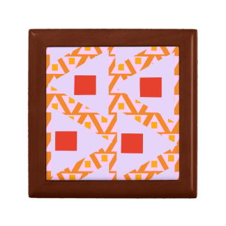 red orange light orchid mixed triangles 2 trinket box