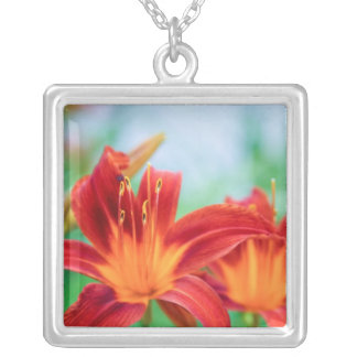 Red Orange Lily Flowers Pendants