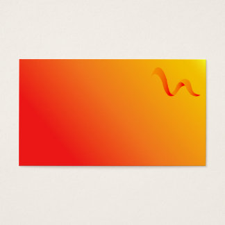 Red & Orange Logo, Business Card