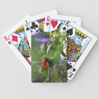 Red Orange Monarch Butterfly Danaus plexippus Bicycle Playing Cards