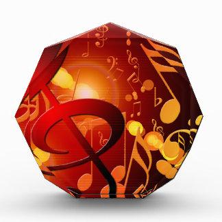 Red, orange, music note pattern award