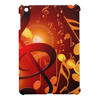 Red, orange, music note pattern case for the iPad mini