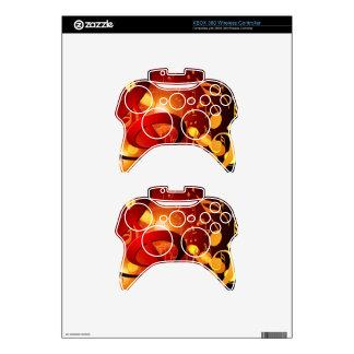 Red, orange, music note pattern xbox 360 controller skin