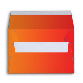 Red & Orange Ombre A6 Linen Envelope