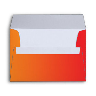 Red & Orange Ombre A7 Linen Envelope
