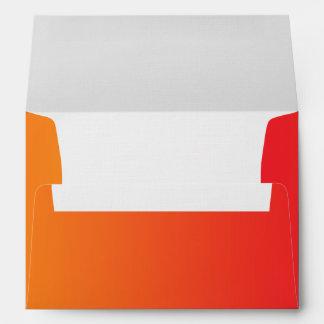 Red & Orange Ombre A7 Linen Envelope