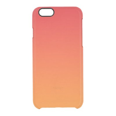 Red & Orange Ombre Uncommon Clearly™ Deflector iPhone 6 Case