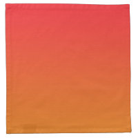 Red & Orange Ombre Napkin