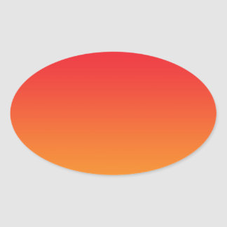 Red & Orange Ombre Oval Sticker