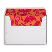 Red & Orange Parisian Paisley Envelope