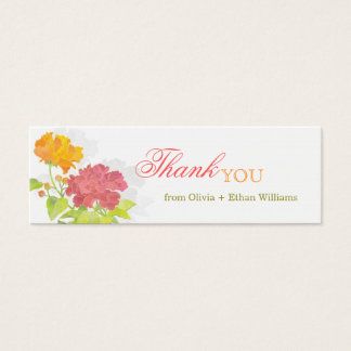 Red + Orange Peony Wedding Thank You Favor Tags