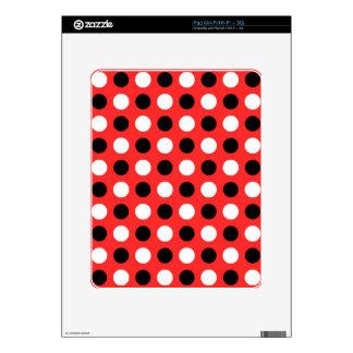 Red Orange Polka Dots Decal For iPad