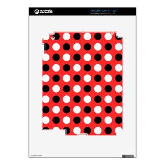 Red Orange Polka Dots iPad 2 Decal