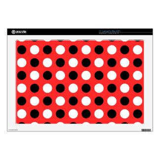 Red Orange Polka Dots Laptop Skins