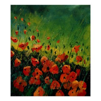 red orange poppies 67 posters
