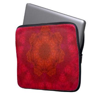 Red Orange Rich Colours Kaleidoscope Pattern Computer Sleeve