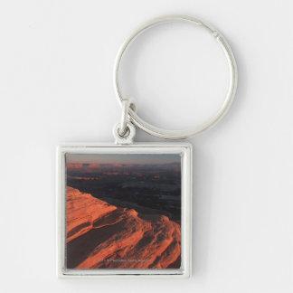 Red Orange Rock Side In Utah Keychain