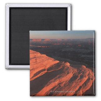 Red Orange Rock Side In Utah 2 Inch Square Magnet