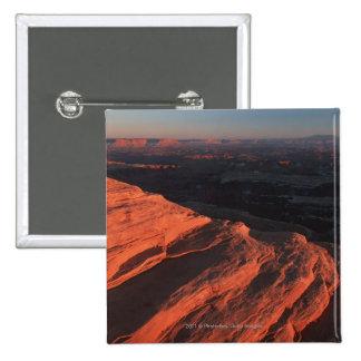 Red Orange Rock Side In Utah Pinback Button