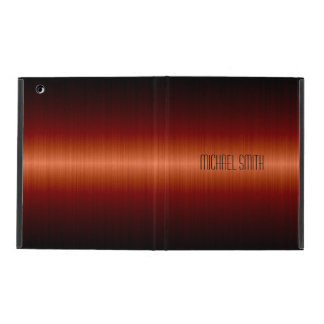 Red Orange Stainless Steel Metal iPad Cover