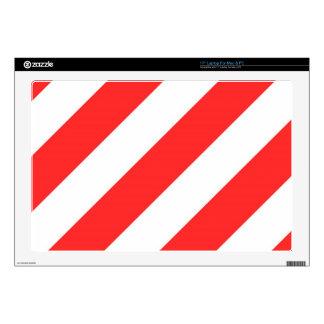 """Red Orange Stripes 17"""" Laptop Decal"""