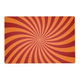 Red orange swirls placemat