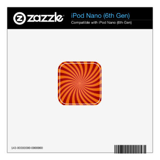 Red orange swirls skins for the iPod nano