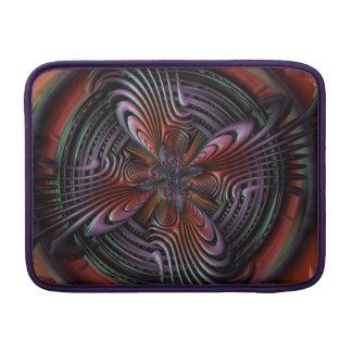 Red orange symmetric swirl fractal art MacBook air sleeve