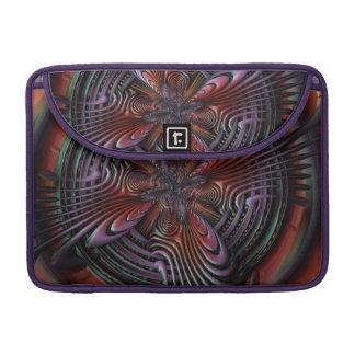 Red orange symmetric swirl fractal art MacBook pro sleeve