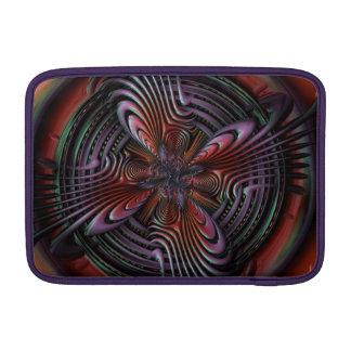Red orange symmetric swirl fractal art sleeve for MacBook air