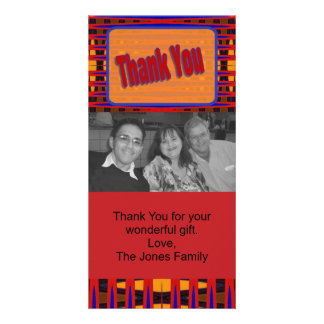 red orange thank you card