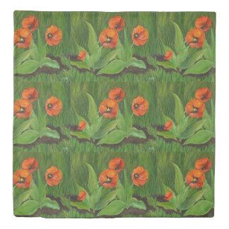 Red Orange Tulip Duvet Cover