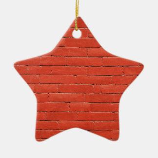 Red Orange Wall Ceramic Ornament