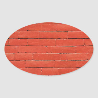 Red Orange Wall Oval Sticker