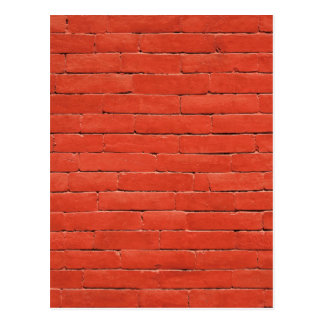Red Orange Wall Postcard