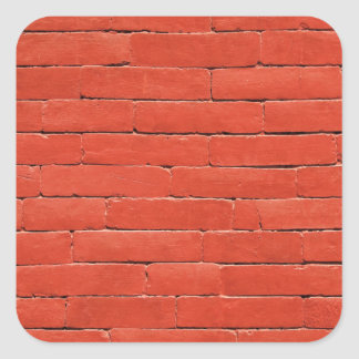 Red Orange Wall Square Sticker