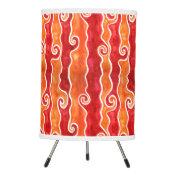 Red Orange Waves Tripod Lamp