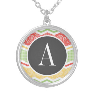 Red-Orange Yellow and Green Country Patterns Necklaces