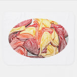 red orange yellow balloon sketch swaddle blankets