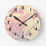 red orange yellow balloon sketch wall clock