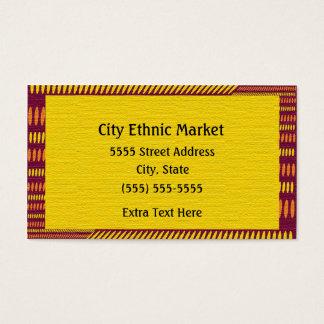 Red Orange Yellow Ethnic Business Card