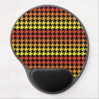 Red orange yellow houndstooth gel mousepad