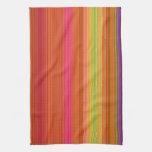 Red Orange Yellow stripes kitchen towel