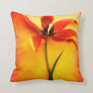 Red Orange  Yellow Tulip Flower Tulips Floral Throw Pillow