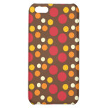Red Orange Yellow White Brown Polka Dots Pattern iPhone 5C Cover