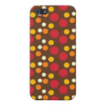 Red Orange Yellow White Brown Polka Dots Pattern iPhone 5 Cases