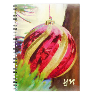 Red Orb monogram Spiral Notebook